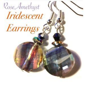 Iridescent Handmade Glass Earrings